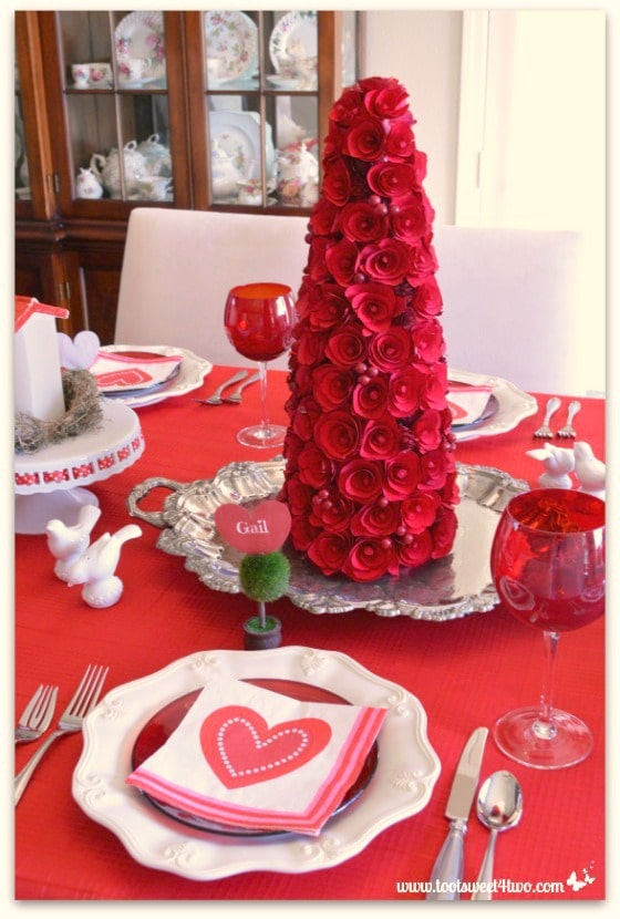 Decorating The Table For A Valentines Day Celebration