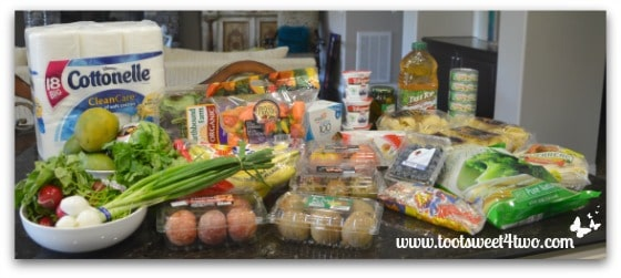 My haul of groceries from Grocery Outlet - Toot Sweet 4 Two