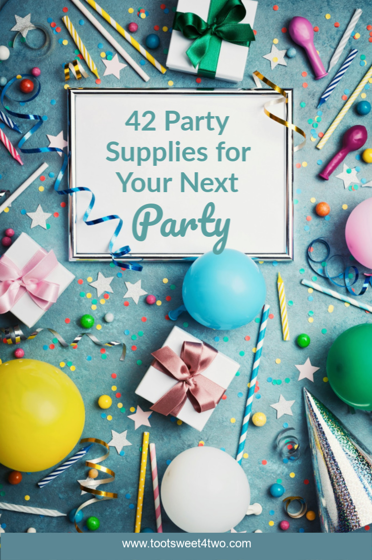 42 Party Supplies For Your Next Party Toot Sweet 4 Two