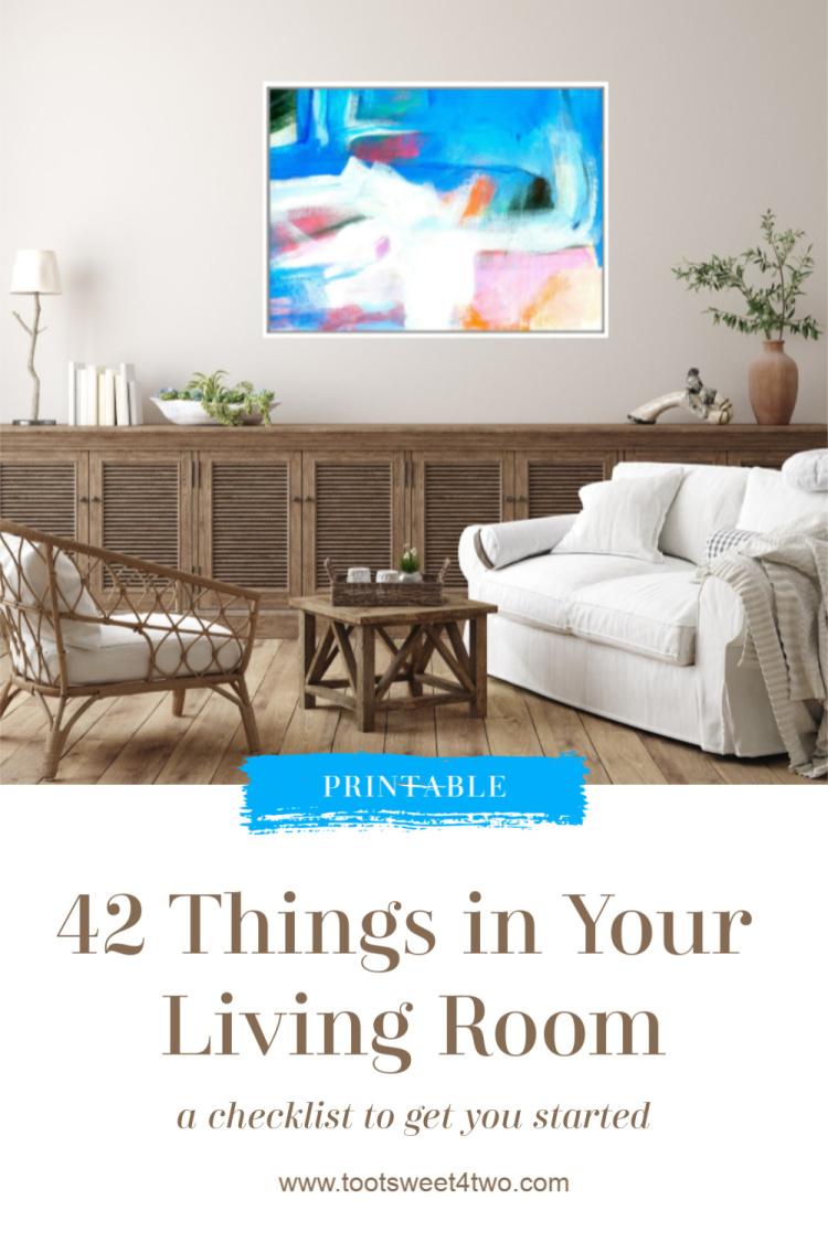 Organized Living Room Drawing