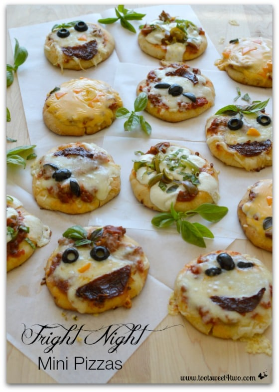 Fright Night Mini Pizzas Toot Sweet 4 Two