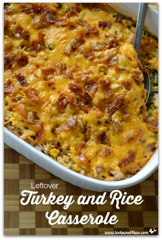 Leftover Turkey and Rice Casserole