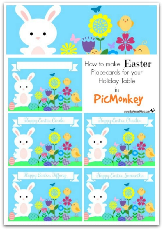 graphic regarding Easter Place Cards Printable known as How in the direction of Create Easter Placecards for your Family vacation Desk inside