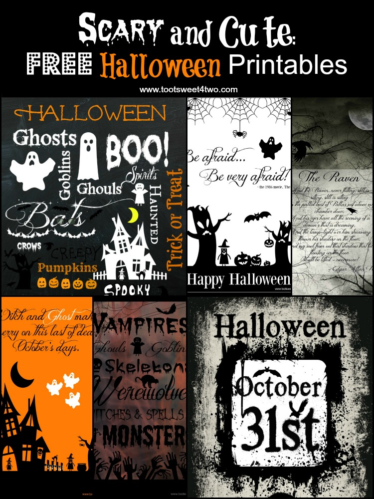 Last Chance 13 Free Halloween Printables You Will Love Toot