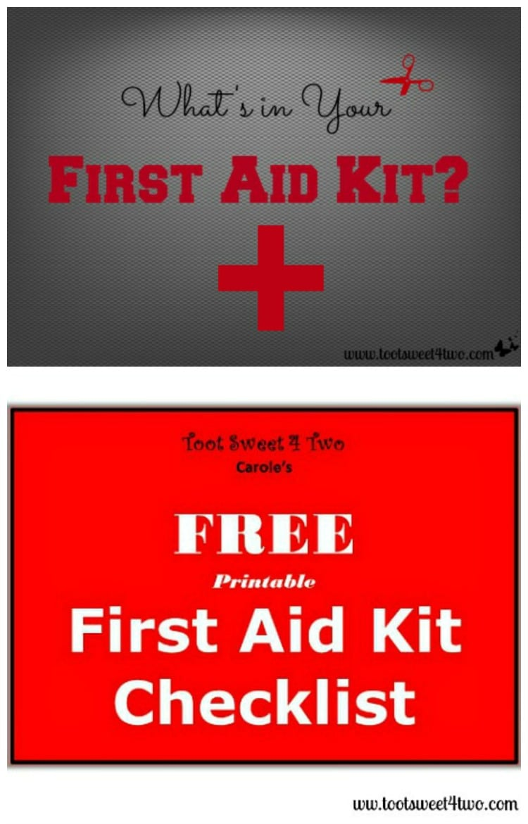 image about First Aid Printable identify Whats within just Your To start with Guidance Package and Printable Record - Toot
