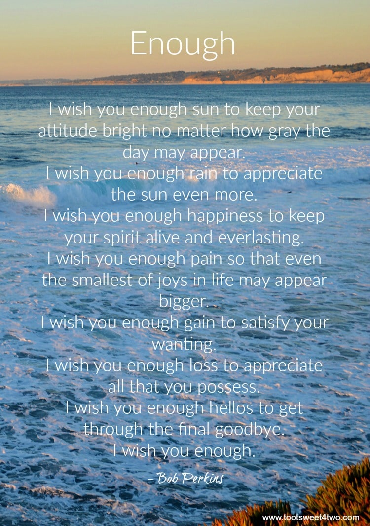 Enough Quote By Bob Perkins Toot Sweet 4 Two