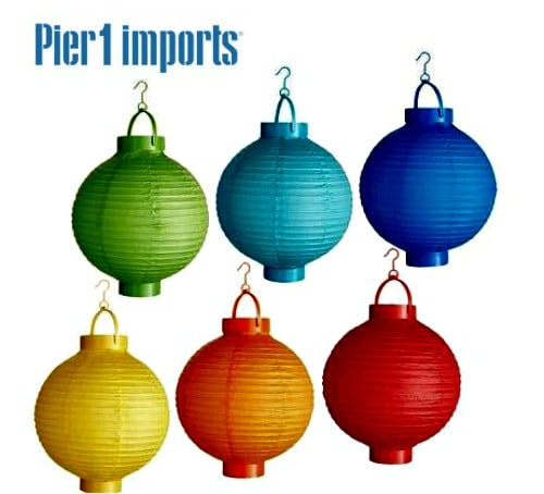 Battery Operated Paper Lanterns From Pier One