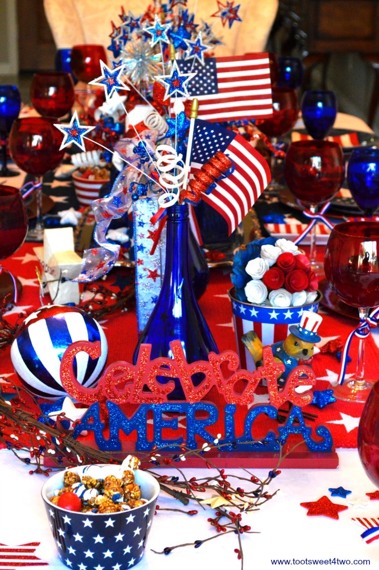 Decorating The Table For 4th Of July Toot Sweet 4 Two