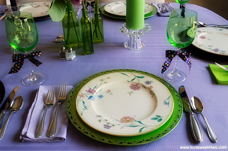 Dining Table Decor Ideas Purple And Green