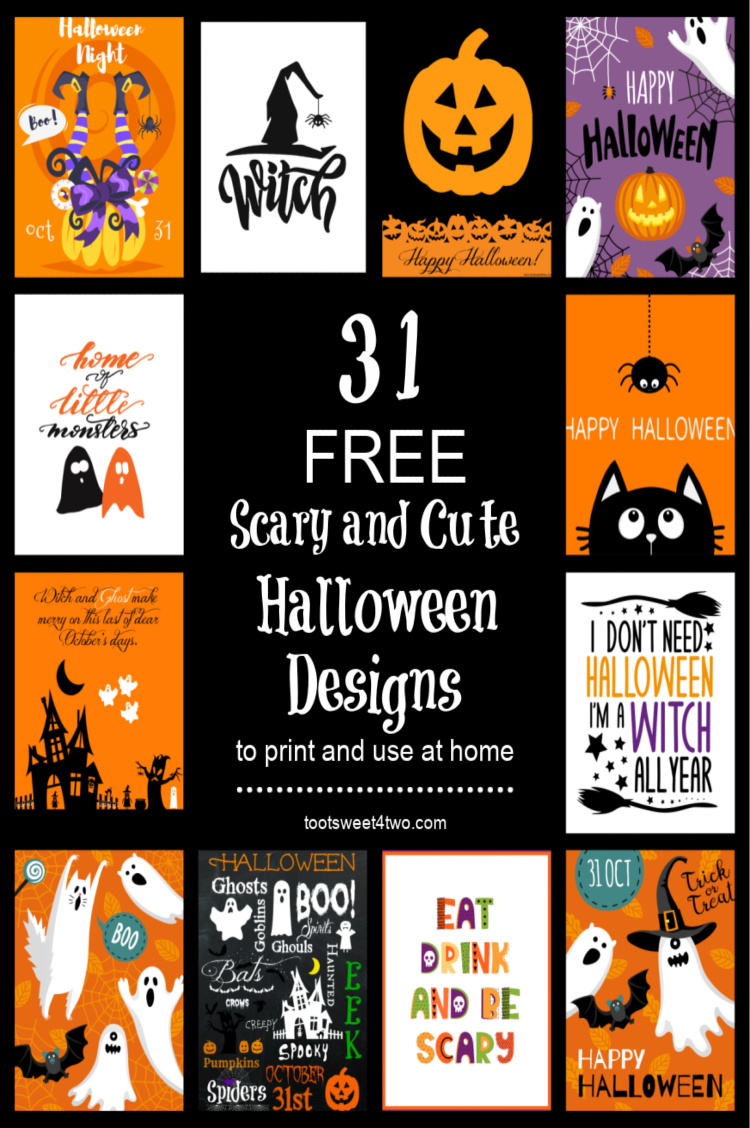 31 Scary And Cute Free Halloween Printables You Will Love Toot Sweet 4 Two
